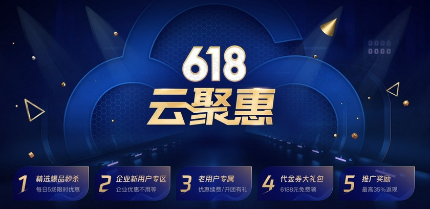 腾讯云618钜惠:云服务器95元/年起,续费最低享3折