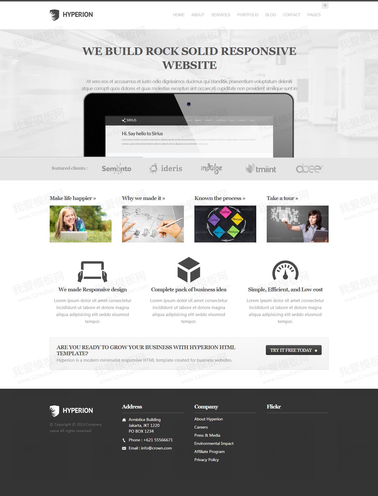 灰色的商务科技IT公司网站模板HTML整站下载