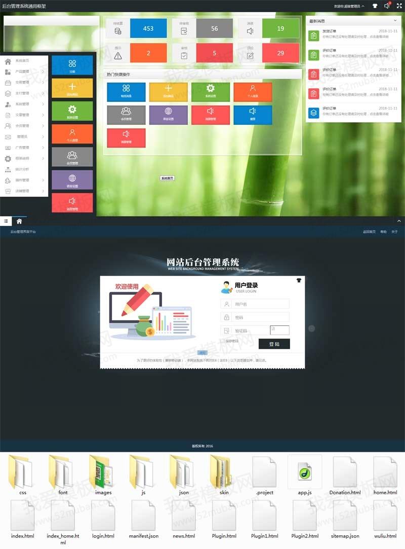 SYSUI物流系统后台管理ui框架模板